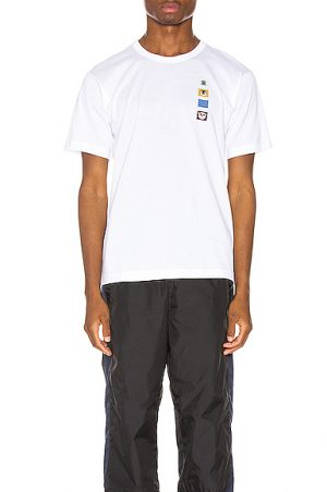 Acne Studios Nash Animal Patch Tee in White. - size L (also in XL)