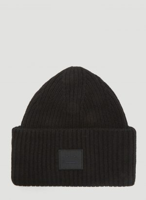 Acne Studios Pansy N Face Knit Hat in Black size One Size