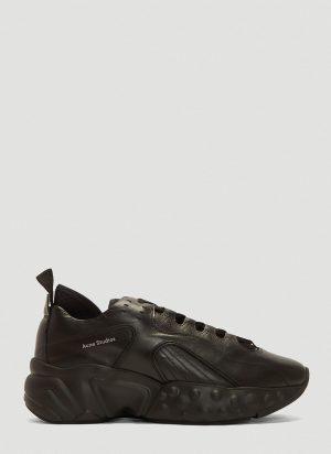 Acne Studios Rockaway Technical Leather Sneakers in Black size EU - 43