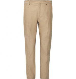 Acne Studios - Sand Boston Tapered Pleated Cotton-Poplin Suit Trousers - Men - Sand