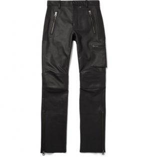 Acne Studios - Slim-Fit Leather Biker Trousers - Men - Black