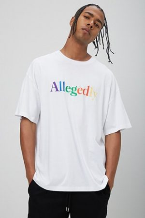 Allegedly Embroidered Graphic Tee at Forever 21 White/multi