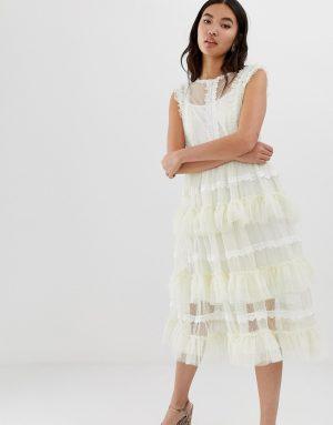 Amy Lynn ruffled layered lace dress - Multi