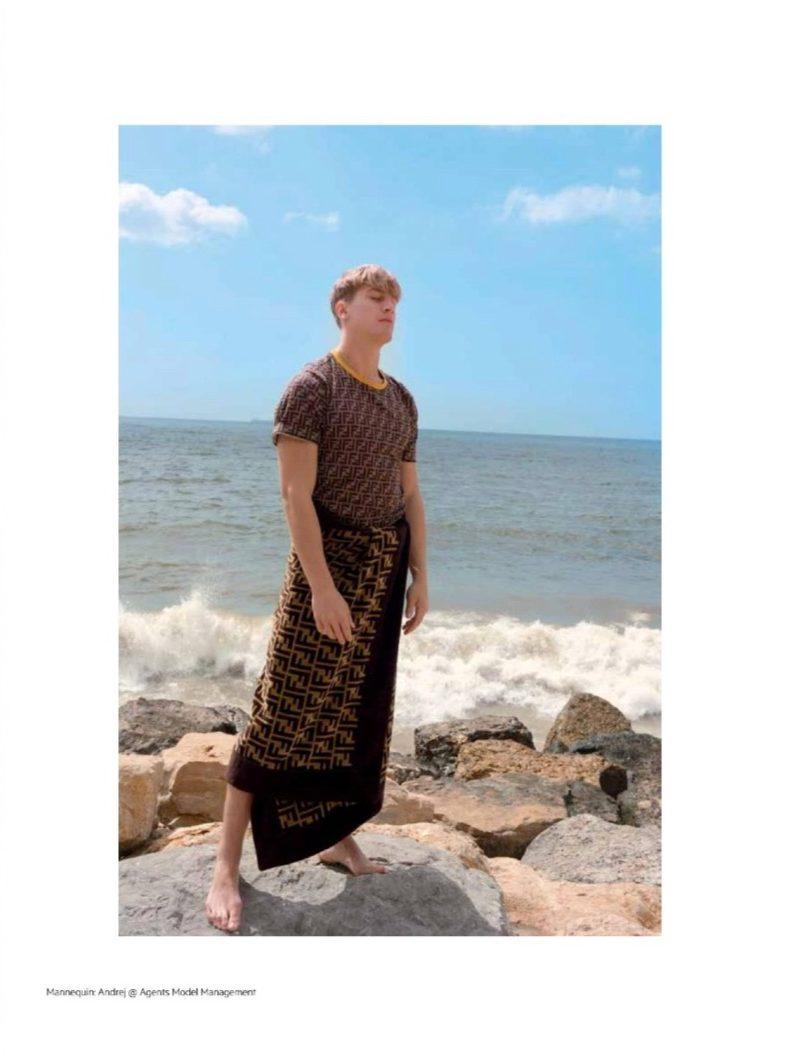 Andrej Halasa Embraces Summer Style for L'Officiel Hommes Levant