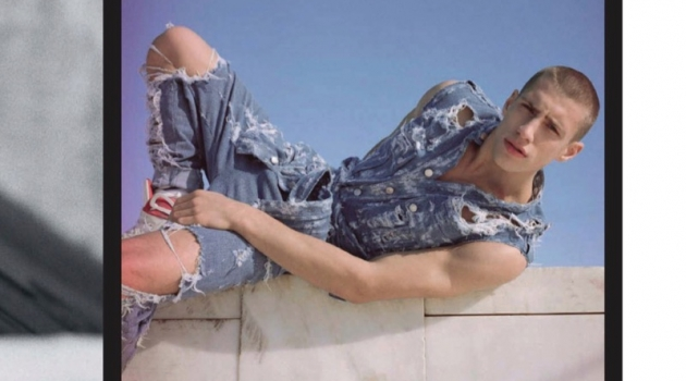 Bluer Than Blue: Augusta Alexander Rocks Denim for GQ China