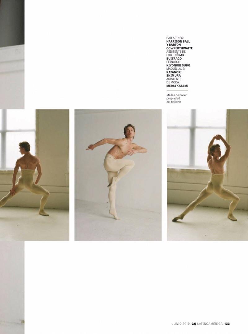 Dancers Barton Cowperthwaite & Harrison Ball Don Gucci for GQ Latin America