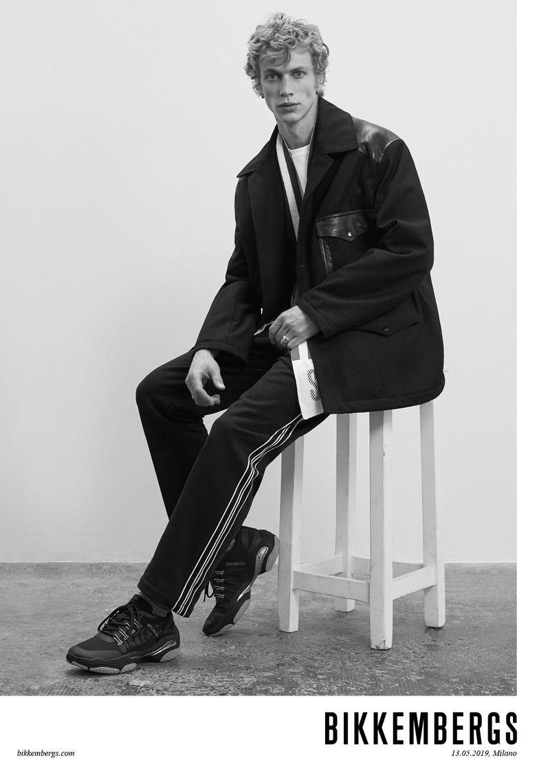 Robbi Gruendler stars in Bikkembergs' fall-winter 2019 campaign.