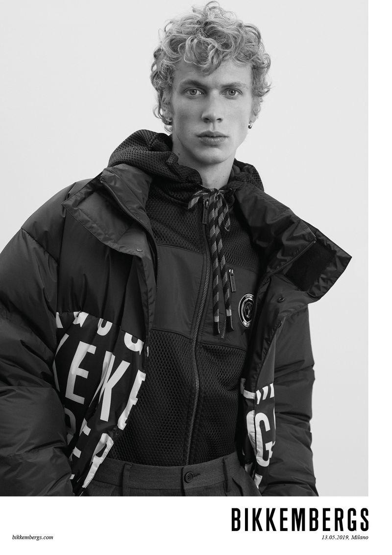 Leon Mark photographs Robbi Gruendler for Bikkembergs' fall-winter 2019 campaign.