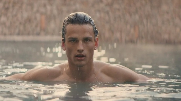 Canadian model Simon Nessman stars in the fragrance campaign for Bottega Veneta Illusione for Him.