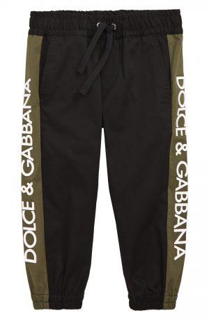 Boy's Dolce & gabbana Pantalone Jogger Pants, Size 8 - Black