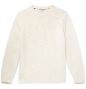 Brunello Cucinelli - Alpaca-Blend Sweater - Men - Cream