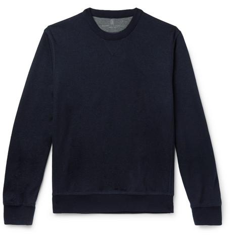 Brunello Cucinelli - Cashmere-Blend Sweatshirt - Men - Navy