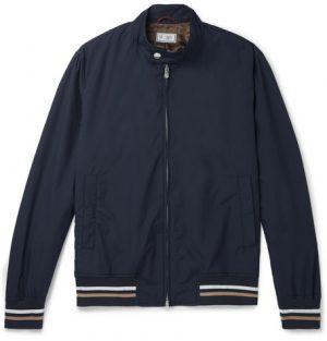 Brunello Cucinelli - Cotton Bomber Jacket - Men - Navy