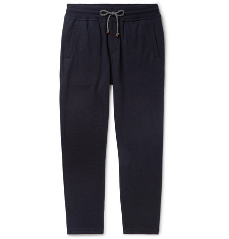 Brunello Cucinelli - Tapered Cashmere-Blend Sweatpants - Men - Navy