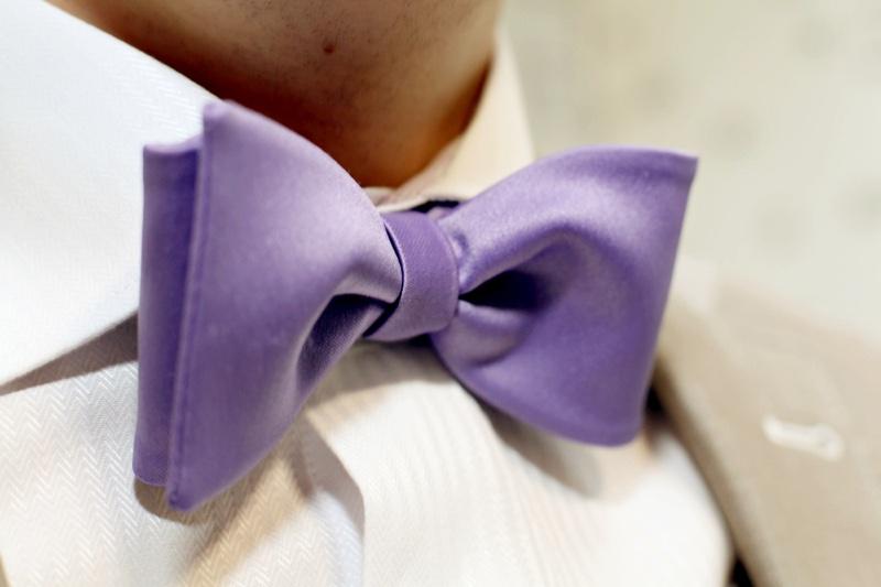 Closeup Purple Bow Tie