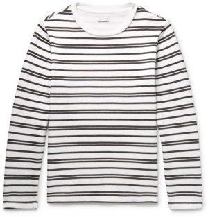 Club Monaco - Double-Faced Striped Cotton-Jersey T-Shirt - Men - White