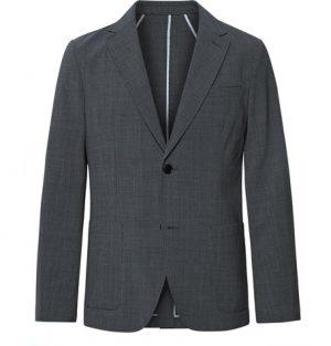 Club Monaco - Grey Grant Slim-Fit Unstructured Puppytooth Woven Blazer - Men - Gray