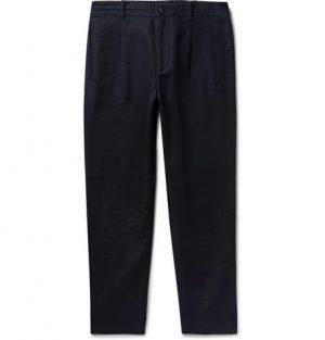 Club Monaco - Midnight-Blue Citee Slim-Leg Cotton-Twill Trousers - Men - Midnight blue