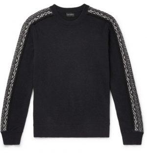 Club Monaco - Slim-Fit Fair Isle Wool Sweater - Men - Navy