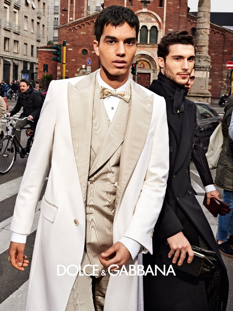Saif Khorchid and Federico Massaro appear in Dolce & Gabbana's fall-winter 2019 men's campaign.