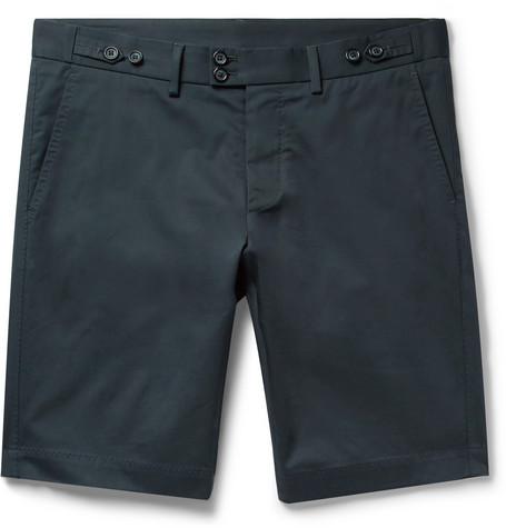 bf04beead9 Dolce & Gabbana - Slim-Fit Stretch-Cotton Gabardine Shorts - Men - Storm  blue