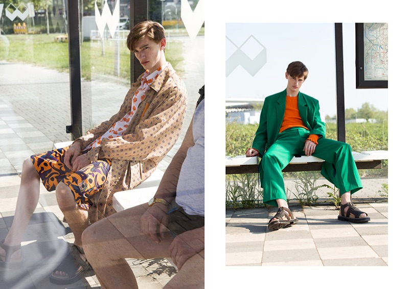 Front and center, Ilan wears Kenzo.