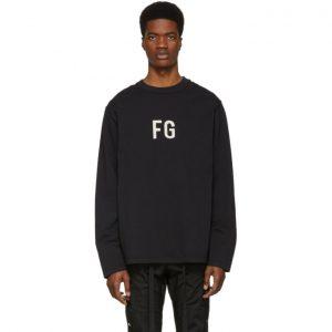 Fear of God Black FG Long Sleeve T-Shirt