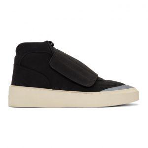 Fear of God Black Skate Mid Sneakers