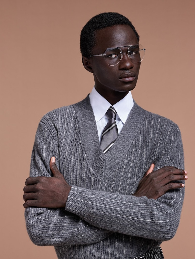 Malick Bodian stars in Fendi's fall-winter 2019 men's campaign.