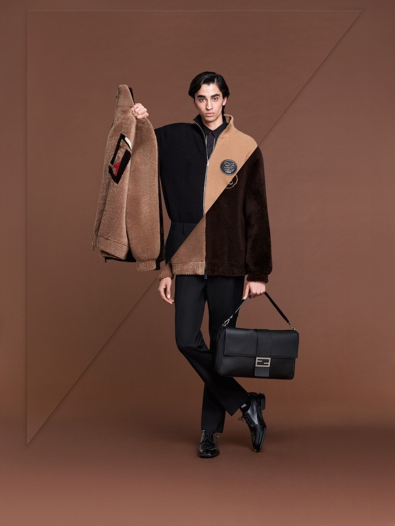 Reuniting with Fendi, Aramish Mangi fronts Fendi's fall-winter 2019 men's campaign.