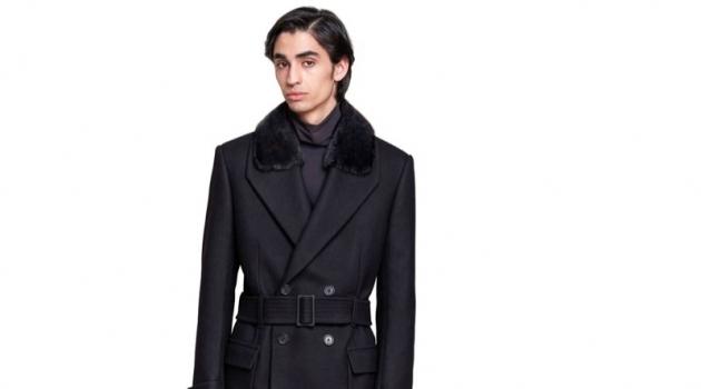 Ready for fall, Aramish Mangi sports Fendi's pea coat $5,300.
