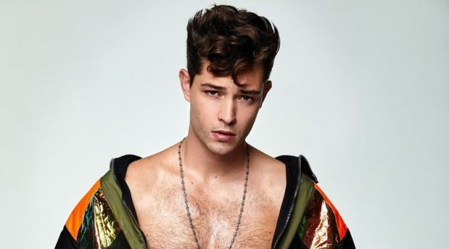 Francisco Lachowski Gets Cheeky for Man About Town Shoot