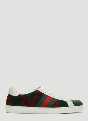 Gucci Ace GG Logo Sneakers in Green size UK - 10