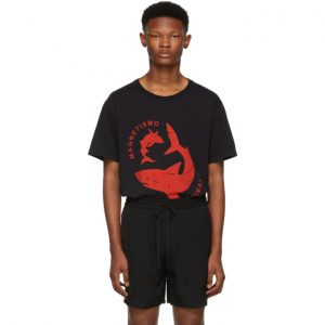 Gucci Black Magnetismo Animale Shark T-Shirt