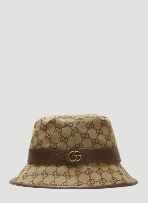 Gucci GG Logo Fedora Hat in Brown size M