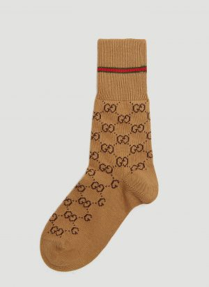 Gucci GG Socks in Brown size M
