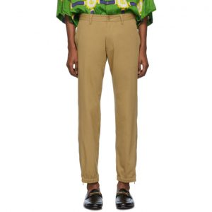 Gucci Tan Gucci Band Trousers