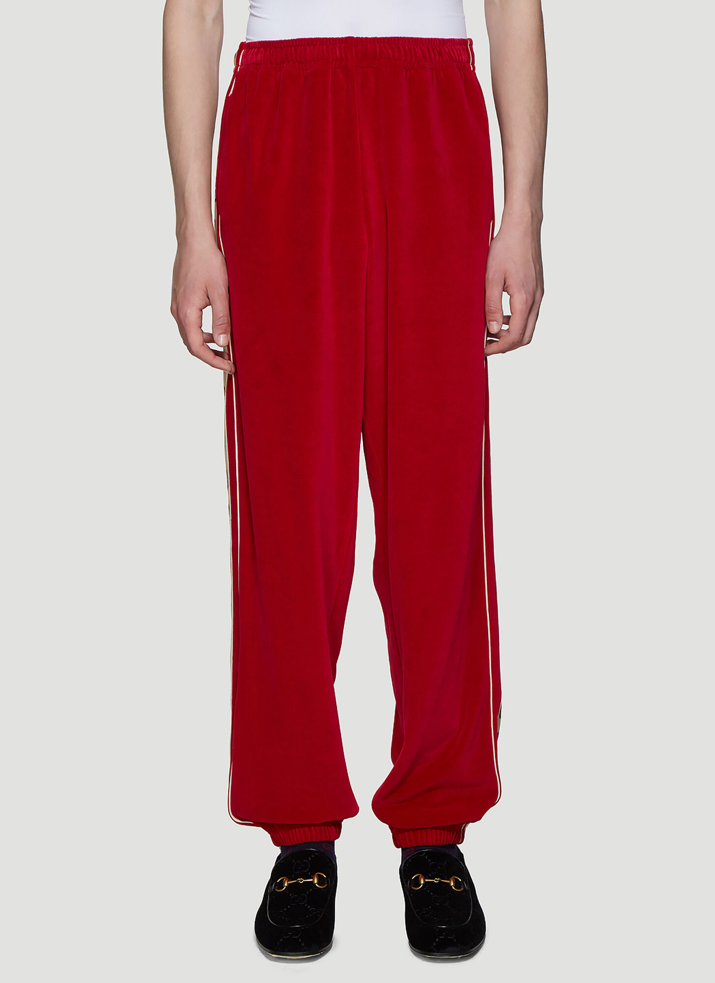 7d078541 Gucci Velour Track Pants in Red size S