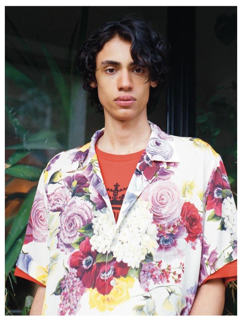 Benjamin wears DOLCE & GABBANA shirt £745 and T-shirt £225