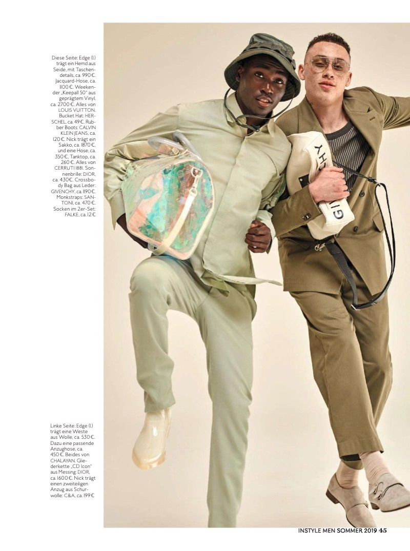 Nicholas Sinclair & Edge Make a Tailored Statement for InStyle Men Germany