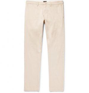 J.Crew - 484 Slim-Fit Stretch-Cotton Twill Chinos - Men - Beige