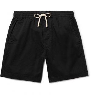 J.Crew - Dock Garment-Dyed Stretch-Cotton Drawstring Shorts - Men - Black