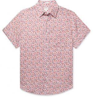 J.Crew - Printed Linen Shirt - Men - Pink