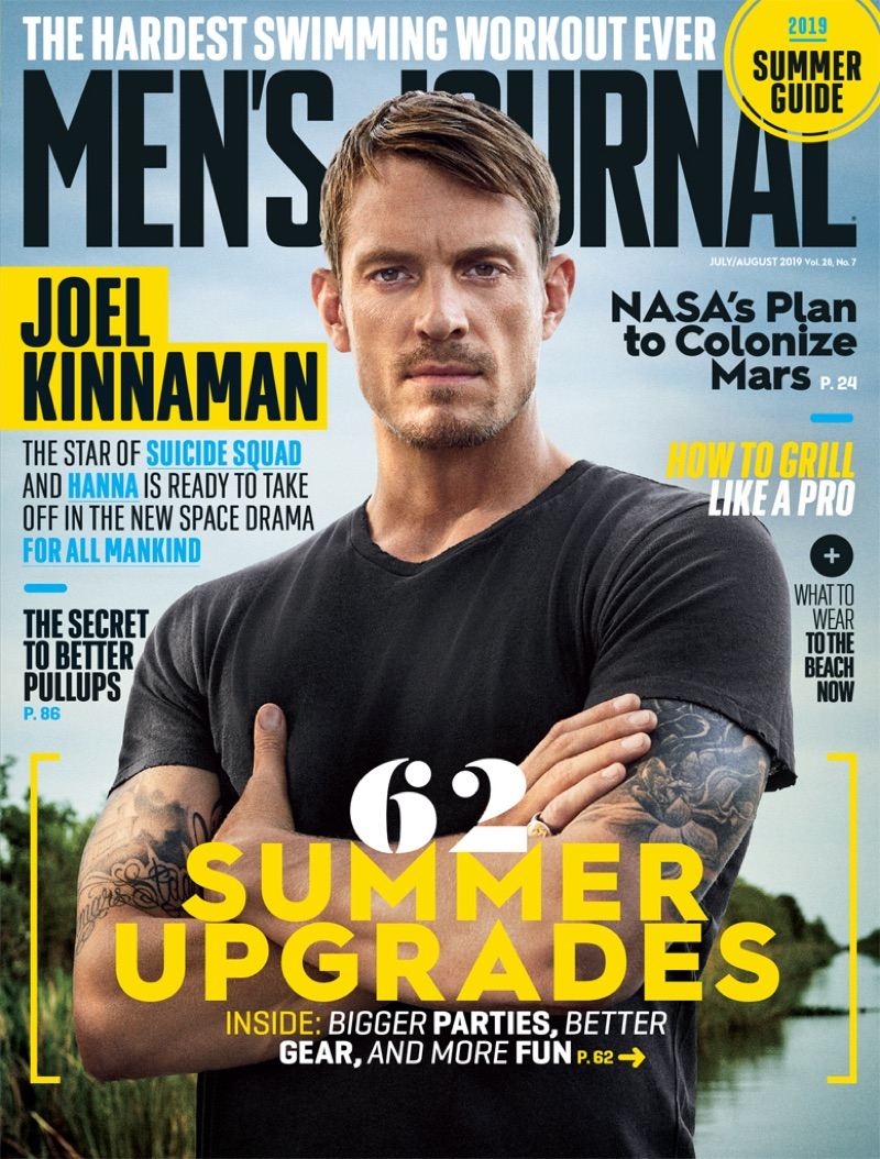 Joel Kinnaman covers the July/August 2019 issue of Men's Journal.