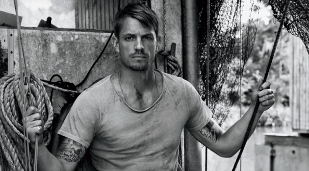 Michael Schwartz photographs Joel Kinnaman for Men's Journal.