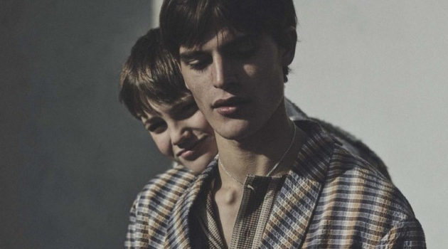 Parker van Noord Poses with His Brother Korneel + More for L'Uomo Vogue