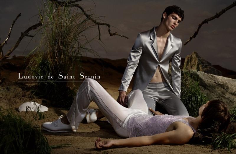 Jan B and Doeke Smulders star in Ludovic de Saint Sernin's fall-winter 2019 campaign.