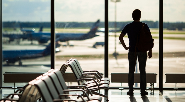 Man at Airport Silhouette