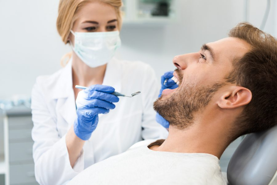 Man at Dentist