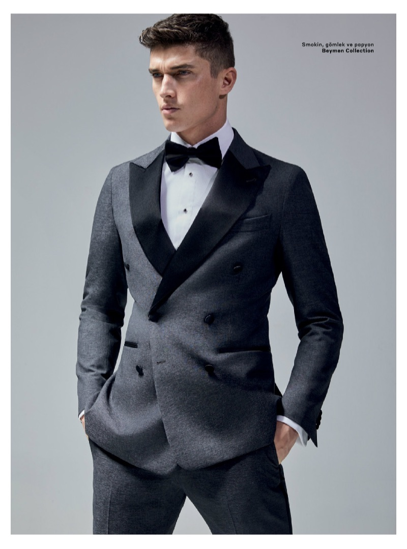 Dressed to the nines, Matthew Holt dons a Beymen Collection tuxedo.